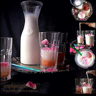 Rose Lassi + Simple Rose Syrup