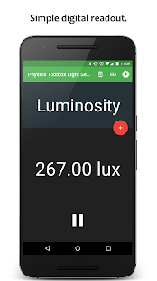 Physics Toolbox Light Meter- screenshot thumbnail