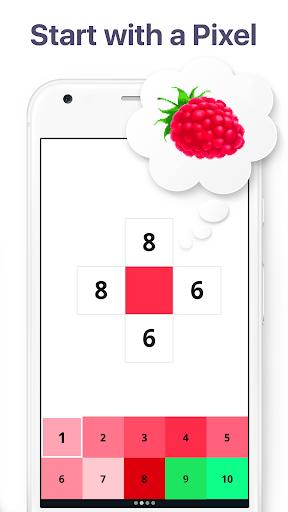 Pixel Art: Build by Number Game screenshot 2