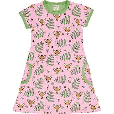 Maxomorra Dress SS Giraffe Garden