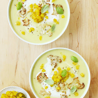 Curried Cauliflower and Apple Soup.