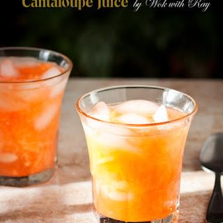 Melon Juice (Cantaloupe Juice) with Vanilla