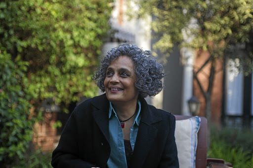 Pen power: Arundhati Roy is in SA to promote her second novel, The Ministry of Utmost Happiness. 'My writing comes out of love, infinite kinds of love that struggles to survive in a bleak world,' she says. Picture: CLAUDI MAILOVICH