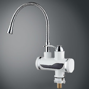 Robinet electric cu display si cap flexibil - pentru apa calda instant