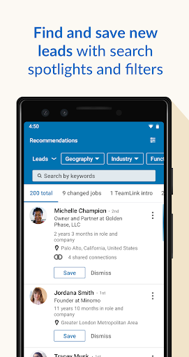 LinkedIn Sales Navigator 6.8.7 screenshots 2