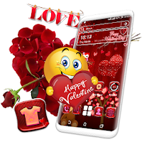 Valentine Red Launcher Theme
