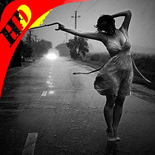 Girl Rain Dance