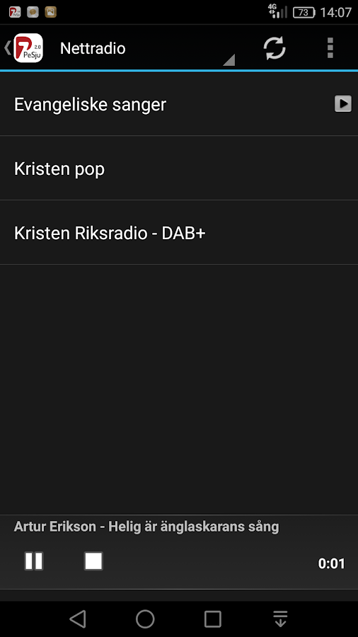 P7 Kristen Riksradio 2.0- screenshot