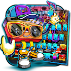 Music Graffiti Punk Street keyboard theme icon