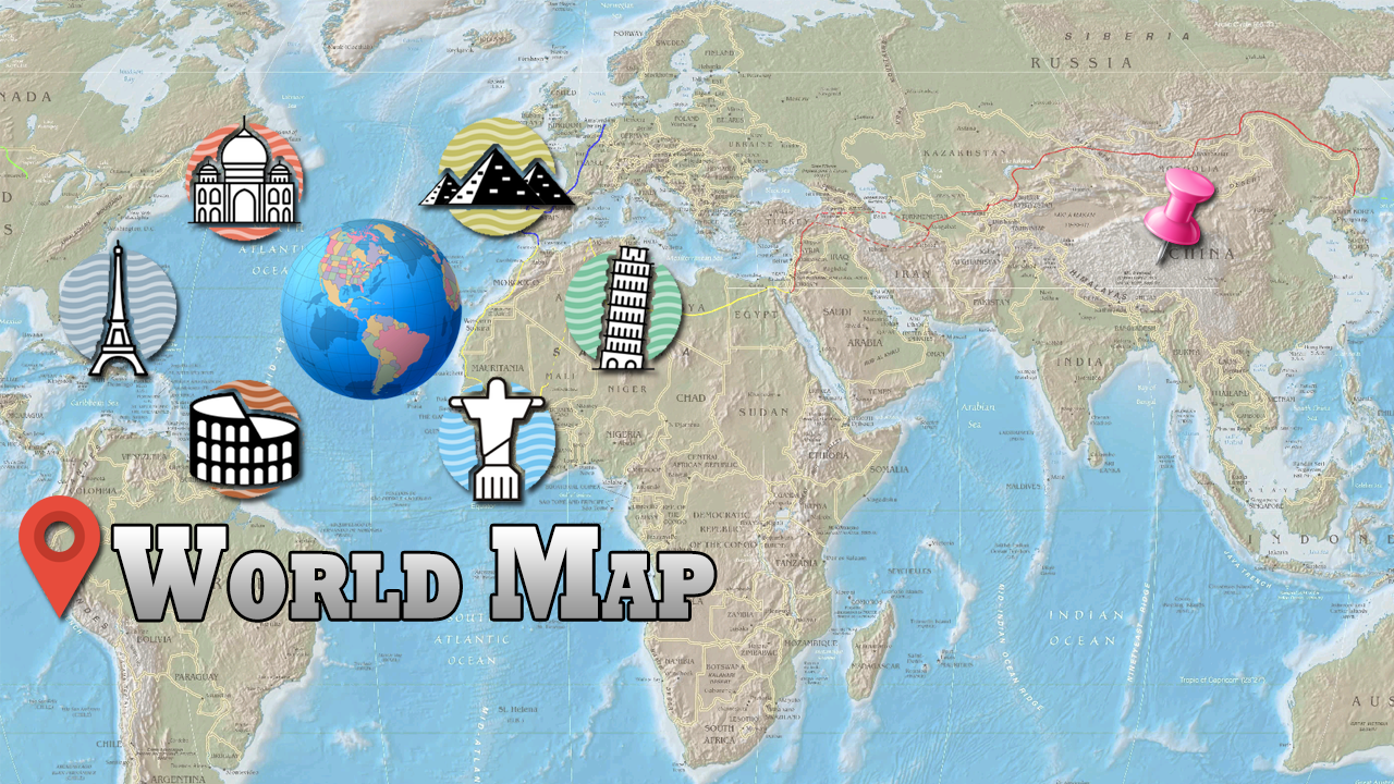 Offline World Map HD D Atlas Street View Android Apps On - Argentina 3d map
