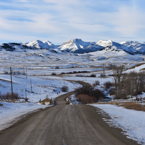 Backroads of Montana by Don Evjen - Landscapes Mountains & Hills ( mountains, montana, snow, roads )
