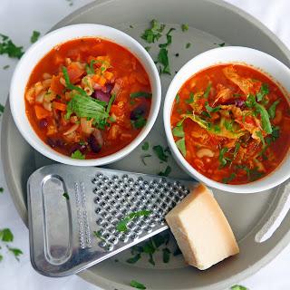 Recipe for Minestrone Soup.