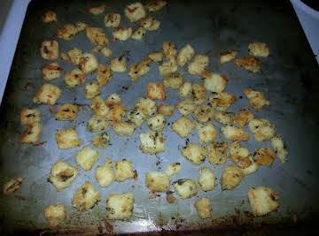 Garlic Parmesan Crutons