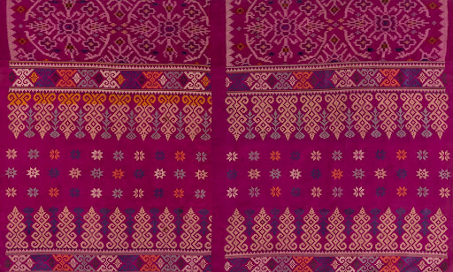 Detail of Maranao malong a andon