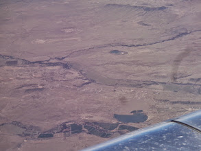 Photo: French Lake, and Ponil Creek, NM.  Cimarron, NM is just under the wing.