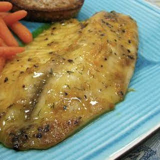Easy Thai Grilled Fish Fillets.