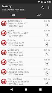 Fast Food Locator / Finder Screenshot 1