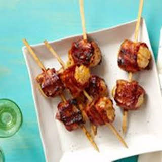 Bacon-Wrapped BBQ Scallops.