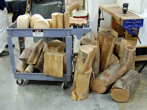 Photo: ...and was augmented when cleanup involved getting rid of some wood on a first-come, first-served basis.