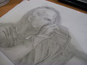 Photo: Kid Beyond sketch by Laura Tomlinson almost complete