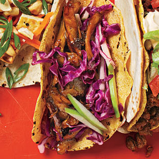 Beer-Braised Chicken Tacos with Cabbage Slaw.