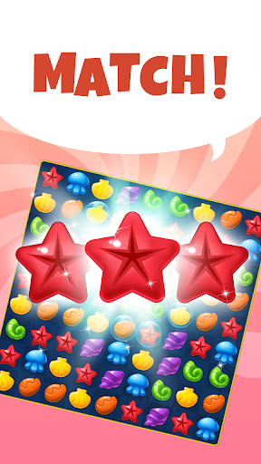 Ocean Splash Match 3: Free Puzzle Games apkmartins screenshots 1