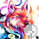 Wolf coloring by number for PC-Windows 7,8,10 and Mac