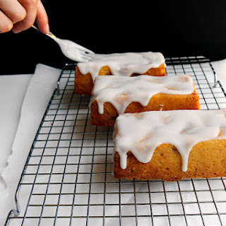 Fresh Raspberry Strawberry Mini Cakes with Thick Lemon Glaze