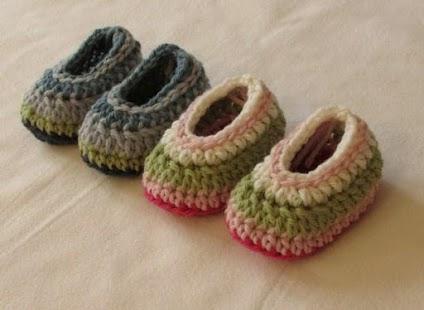 Háčkování Dětská obuv - náhled