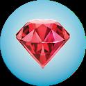 Gemstones list with description icon