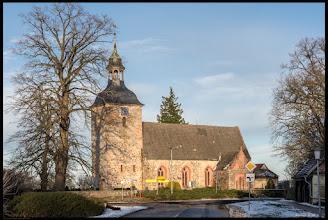 Photo: Diese Dorfkirche ist ein aus dem 13. Jahrhundert stammender Backsteinbau in der vorpommerschen Gemeinde Schlemmin. Der Turmhelm wurde im 19. Jahrhundert errichtet. Fotogalerie: https://goo.gl/831CzD