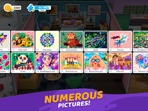 Gallery: Coloring Book by Number & Home Decor Game  screenshots 21