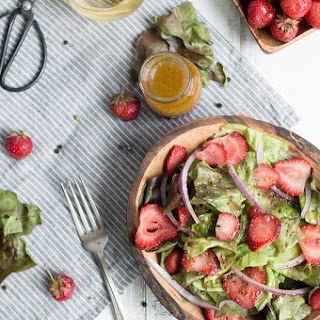 Summer Strawberry Salad With Champagne Vinaigrette.
