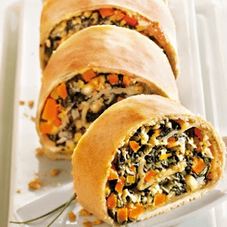 Vegetable Strudel With Cottage Cheese.