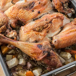 Roast Turkey With Rosemary And Thyme Recipes