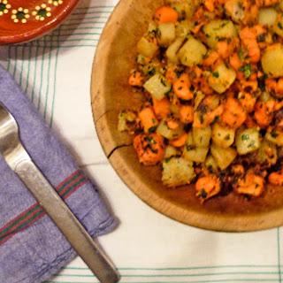 """Sweet Potato and White Potato """"Pommes Persillade"""""""