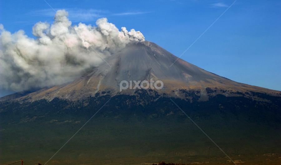 Smoking Volcano by Cristobal Garciaferro Rubio - Landscapes Mountains & Hills ( volcano, smoking, popocatepetl, smoking volcano, volcán )