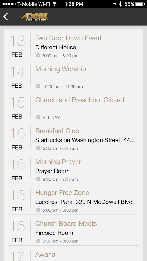 Adobe Christian Center- screenshot