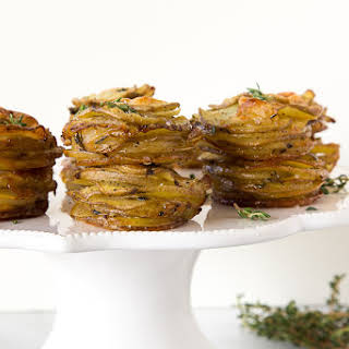 Parmesan Potato Stacks.