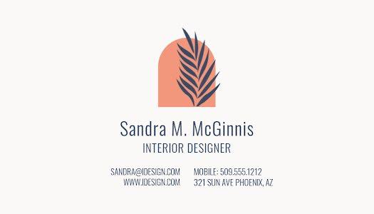 McGinnis Interior Designer - Business Card Template