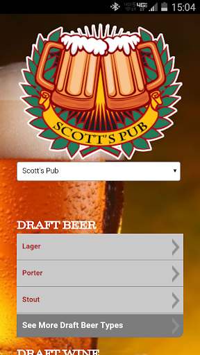 Scott's Pub Beer Menu