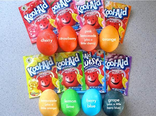 Kool-aid Dyed Eggs