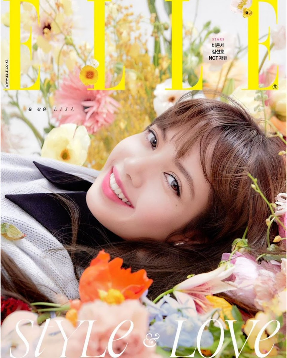 blackpink lisa elle korea