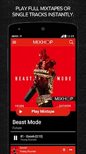 MIXHOP Mixtapes- screenshot thumbnail