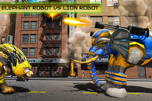 Transforming Robot Elephant Vs Ultimate Lion Robot Varies with device screenshots 5