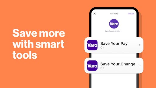 Screenshot for Varo: Save money with a no fee mobile bank account in United States Play Store