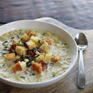 Grandma'S Corn Chowder with Potatoes and Bacon Recipe