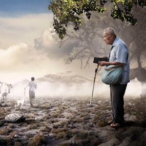 Grandpa by E-Graphic Rider - Digital Art People