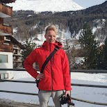 Matt filming in Zermatt in Zermatt, Valais, Switzerland