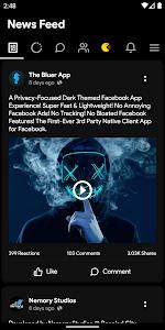 Bluer for Facebook - Dark Theme Night Mode 1.2.4